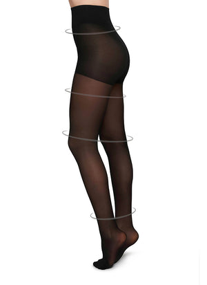 Irma Support Tights - Black - Alt view