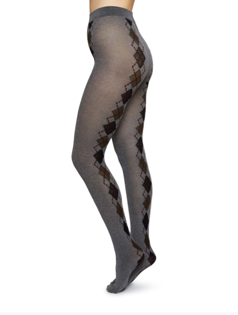 Kristina Argyle Bio-Cotton Tights - grey