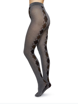 Kristina Argyle Bio-Cotton Tights - grey - Alt view