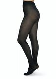 Agnes Houndstooth Tights - Black
