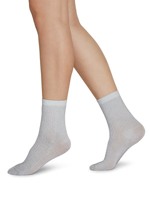 Stella Shimmery Socks - Light Grey - Alt view