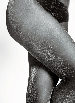 Tora Shimmery Tights - black/silver