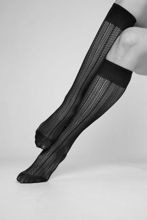 Astrid Fishnet Knee High