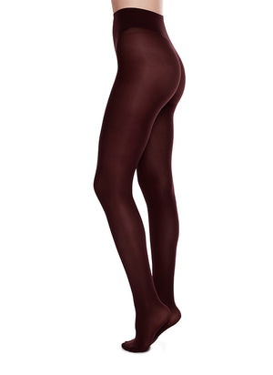 Olivia Tights - Bordeaux - Alt view