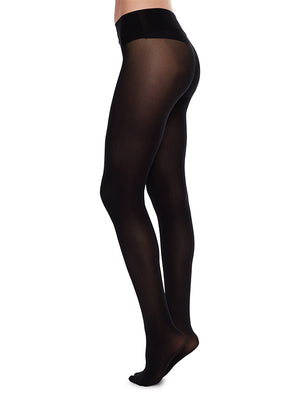Hanna Seamless Tights - Black - Alt view