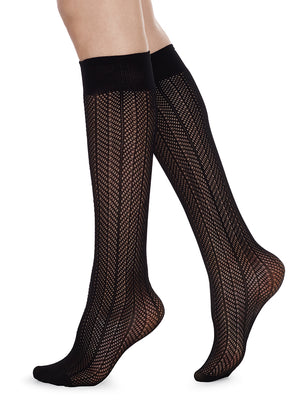 Astrid Fishnet Knee High - Alt view