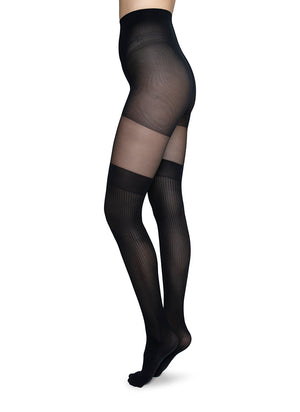 Dagmar Over-Knee Tights - black - Alt view