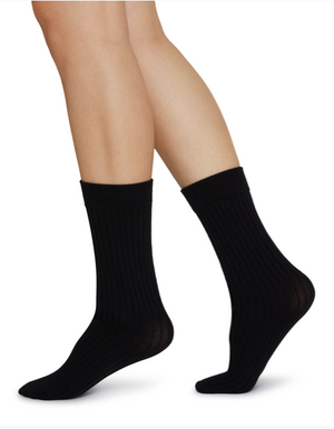 Signe Bio-Cotton Socks - black - Alt view