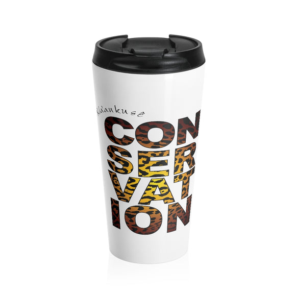 Stainless Steel Travel Mug - Conservation Yellow Fade