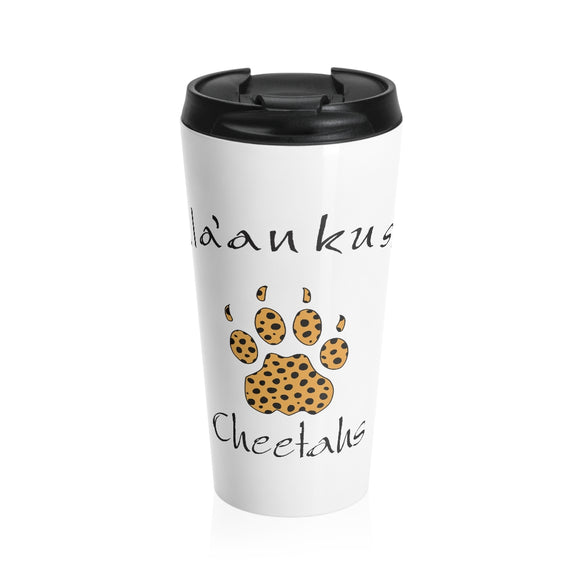 Stainless Steel Travel Mug - Cheetah Paw