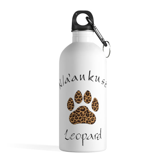 Stainless Steel Water Bottle - Leopard Paw