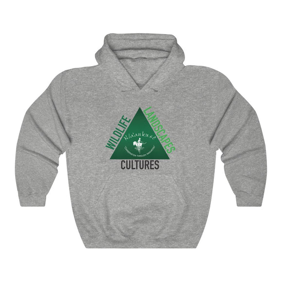 Unisex Heavy Blend™ Hooded Sweatshirt - Naankuse Triangle - N/a'an ku sê Online Shop