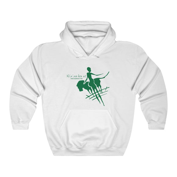 Unisex Heavy Blend™ Hooded Sweatshirt - Big Logo_Green - N/a'an ku sê Online Shop