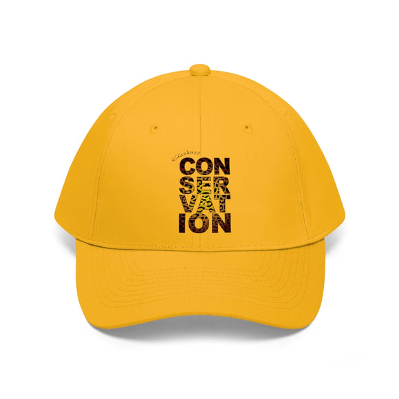 Unisex Twill Hat - Conservation Yellow fade - N/a'an ku sê Online Shop