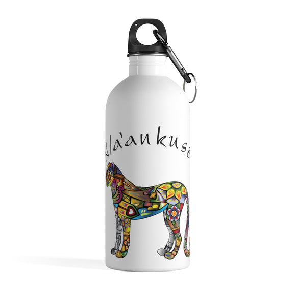Stainless Steel Water Bottle - Floral Cheetah