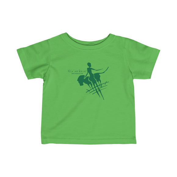 Infant Fine Jersey Tee - Big Logo_Green - N/a'an ku sê Online Shop