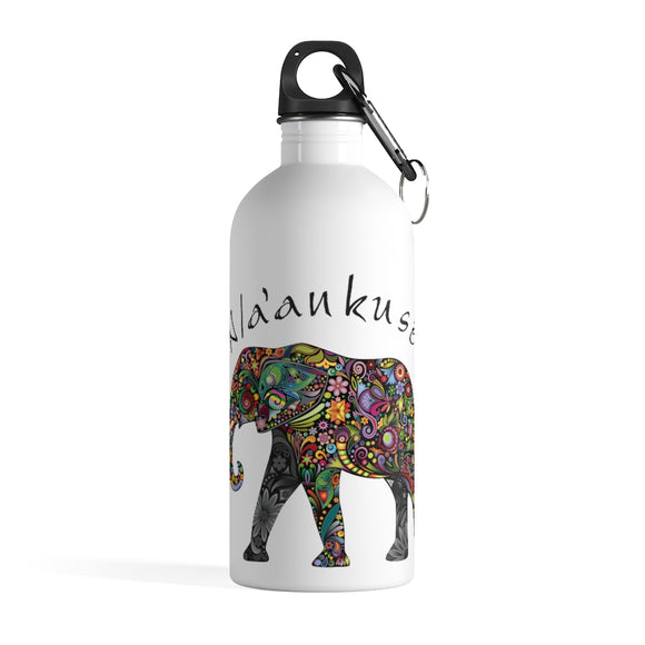 Stainless Steel Water Bottle - Floral Elephant