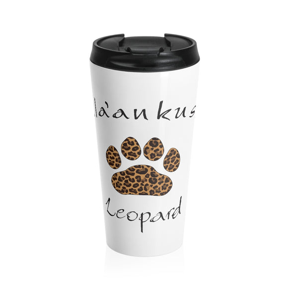 Stainless Steel Travel Mug - Leopard Paw