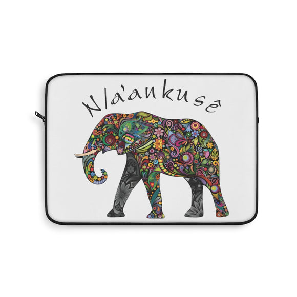 Laptop Sleeve - Floral Elephant