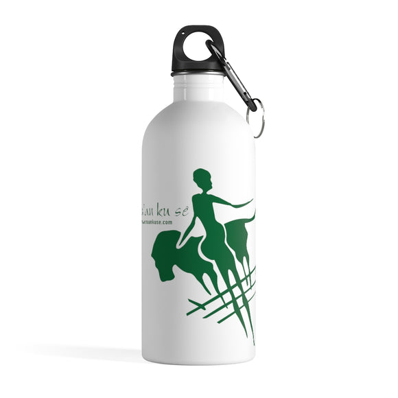 Stainless Steel Water Bottle - Big Logo_Green