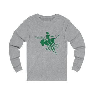 Unisex Jersey Long Sleeve Tee - Big Logo_Green