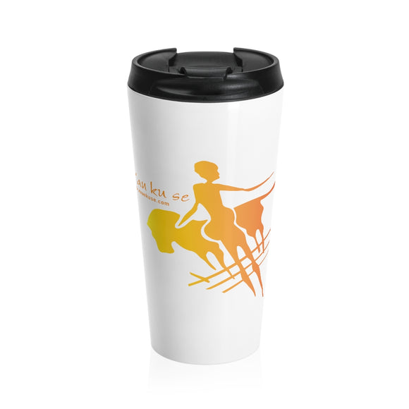 Stainless Steel Travel Mug - Big Logo_Yellow