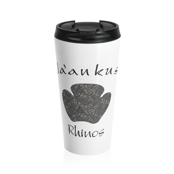 Stainless Steel Travel Mug - Rhino Paw