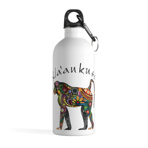 Stainless Steel Water Bottle - Floral Baboon
