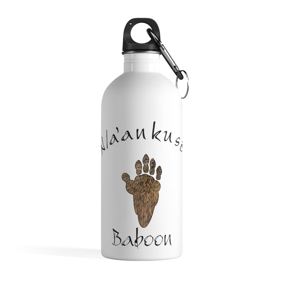 Stainless Steel Water Bottle - Baboon Paw