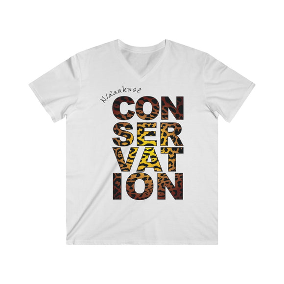 Men's Fitted V-Neck Short Sleeve Tee - Conservation Yellow Fade