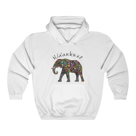Unisex Heavy Blend™ Hooded Sweatshirt - Floral Elephant - N/a'an ku sê Online Shop