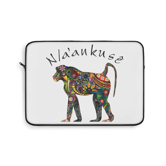 Laptop Sleeve - Floral Baboon