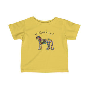 Infant Fine Jersey Tee - Floral Cheetah
