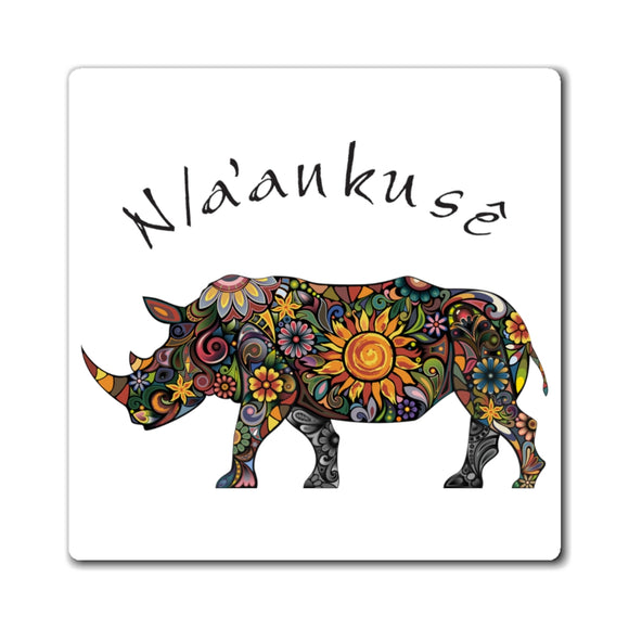 Magnets - Floral Rhino