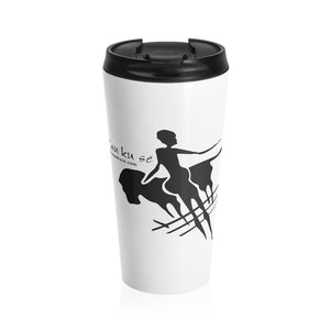 Stainless Steel Travel Mug - Big Logo_Black
