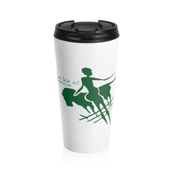 Stainless Steel Travel Mug - Big Logo_Green