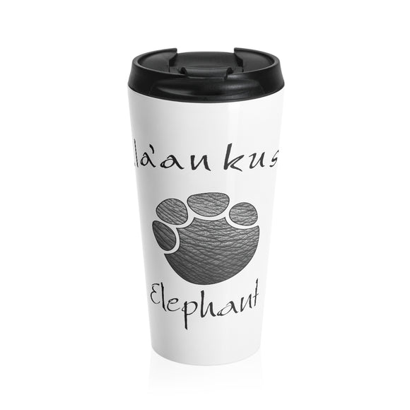Stainless Steel Travel Mug - Elephant Paw