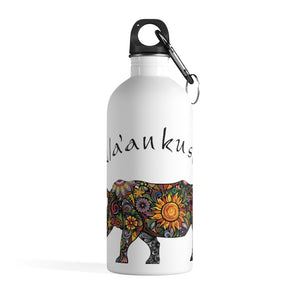 Stainless Steel Water Bottle - Floral Rhino