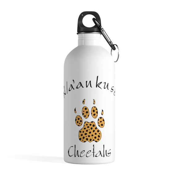 Stainless Steel Water Bottle - Cheetah Paw