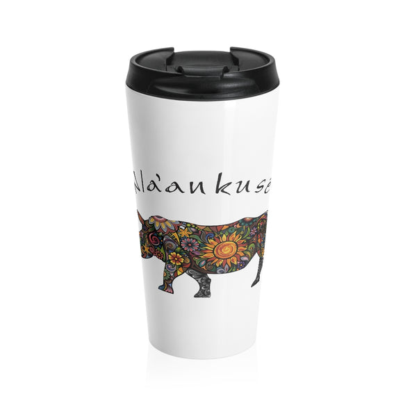 Stainless Steel Travel Mug - Floral Rhino