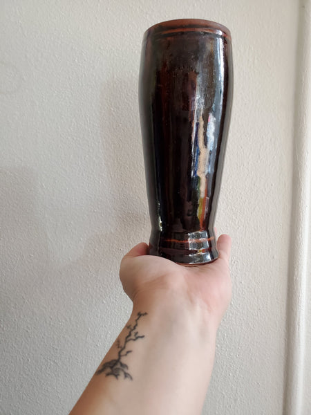 Handmade Brown Glazed Vase