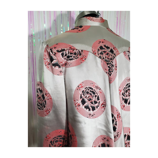 40's Champagne Silk Brocade Swing Jacket