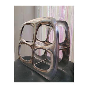 Space Age Silver Wine Rack