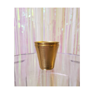 Polished Brass Shot Glasses (Set of 2)