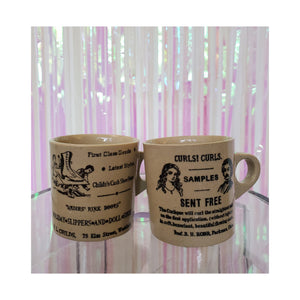 Vintage Advertisement Mugs (Set of 2)
