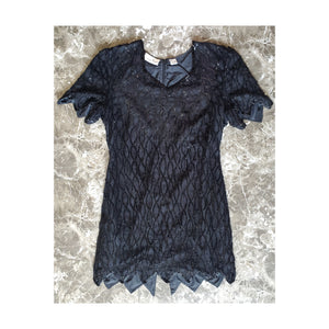 80's Glam Goth Sequined Dress by Laurence Kazar of NYC