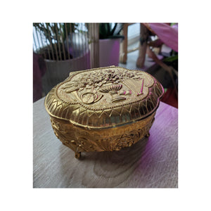 50's Ornate Gold Trinket Box