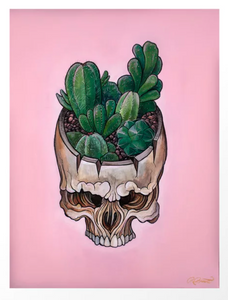 'Cactus Skull' by Ryan Breault - 8x10 Print