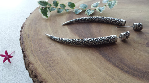 'Naga' Tusk Earrings