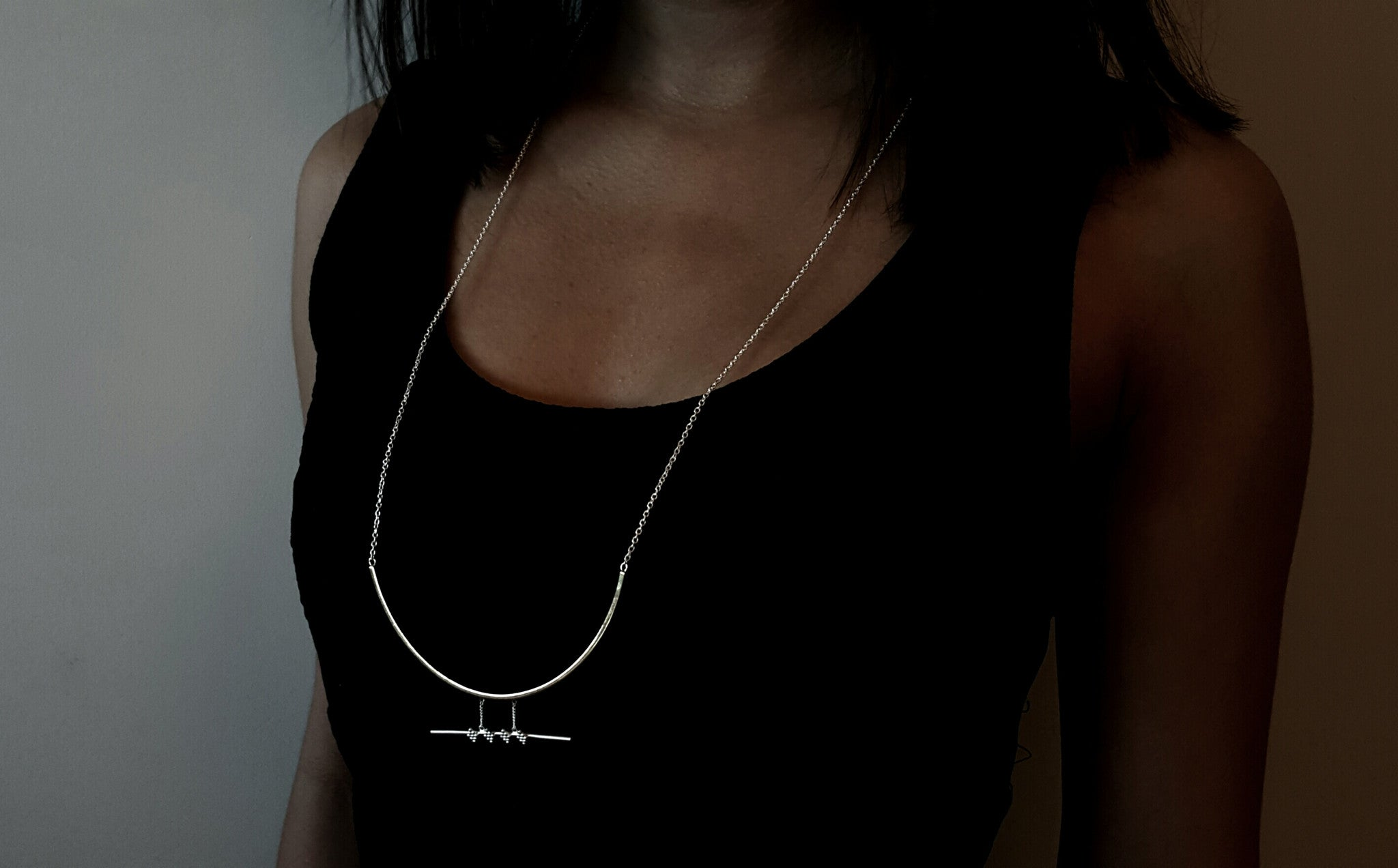 'Manka' Necklace (Brass & Silver Version)
